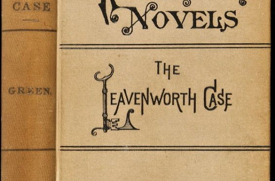 "Image of a vintage tan copy entitled ""Knickerbocker Novels: The Leavenworth Case"", by Anna Katharine Green"
