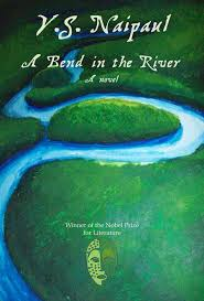 image of the bookcover from A Bend in the River by V.S. Naipaul