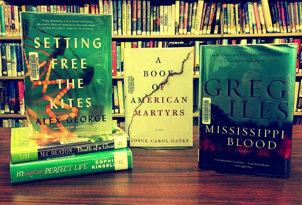 photo of several new fiction books