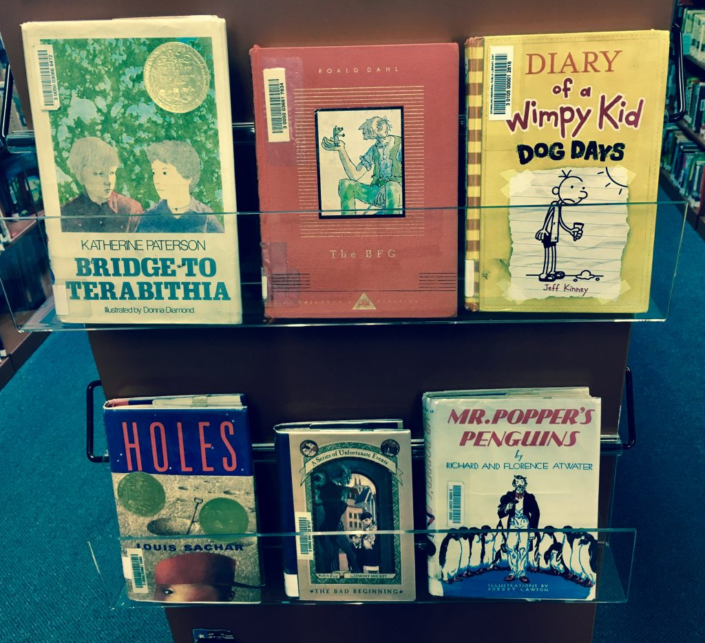 photo of children's books that have been made into movies