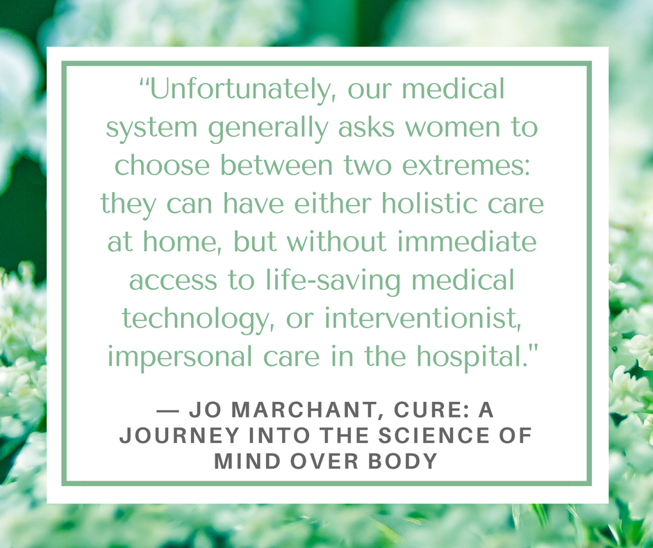 image of a quote from the book Cure, by Jo Marchant