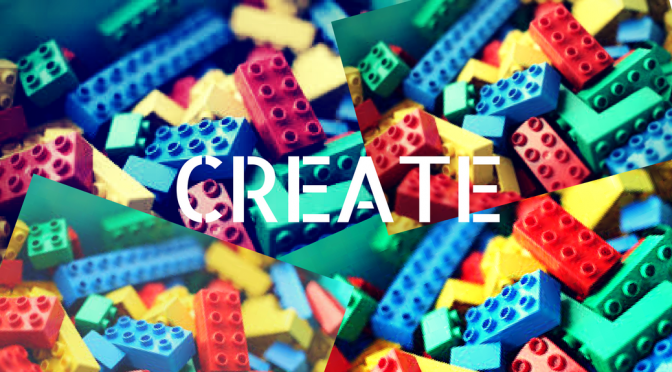 image of lego bricks with the word create