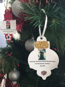 photo of an ornament on a Christmas tree