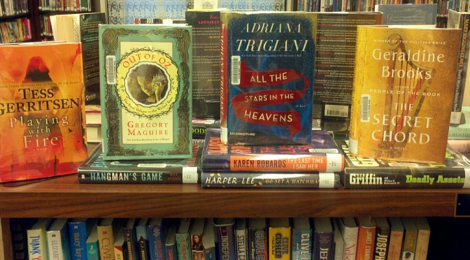 A picture of many new adult fiction books displayed
