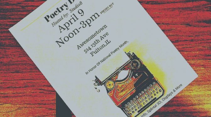 photo of a flyer for poetry day